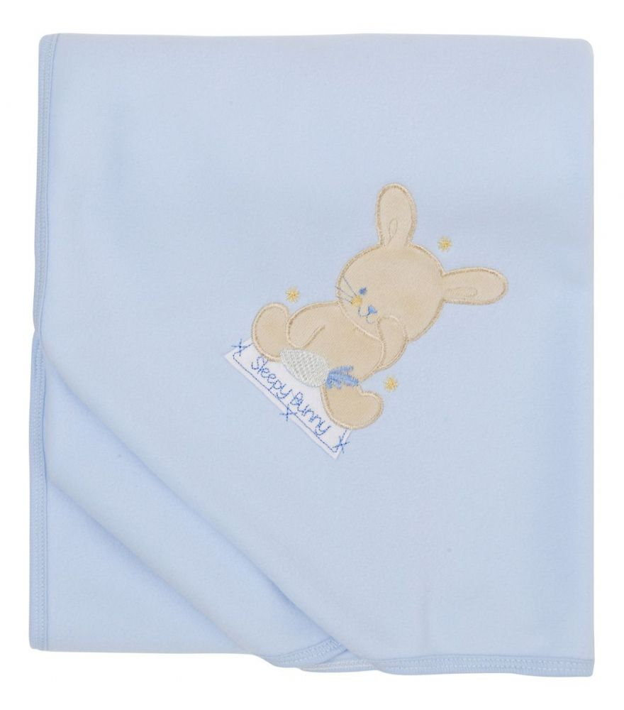 B109 Blue Fleece Baby Cuddle Wrap